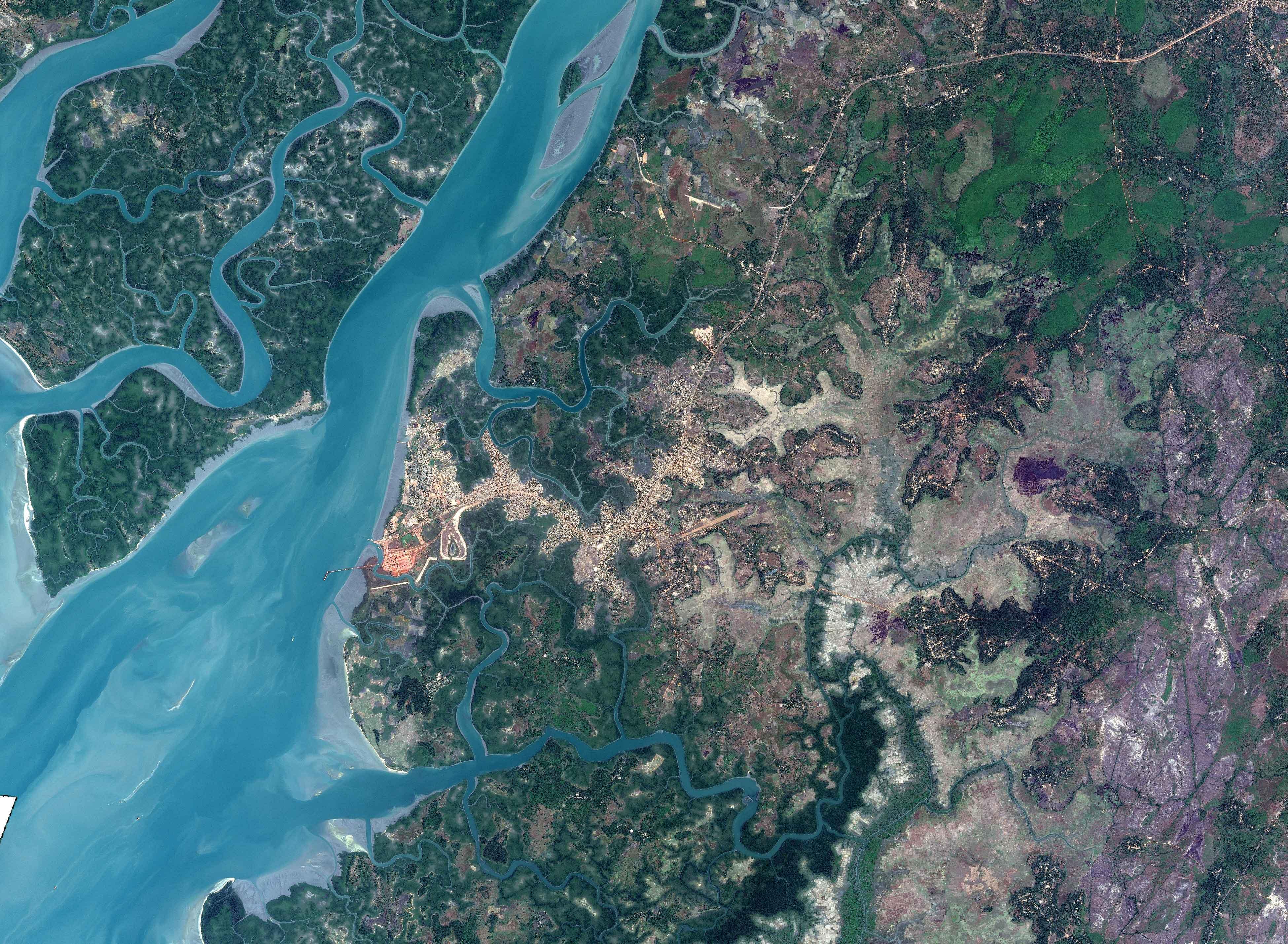 image SPOT6 MS de la ville de Kamsar