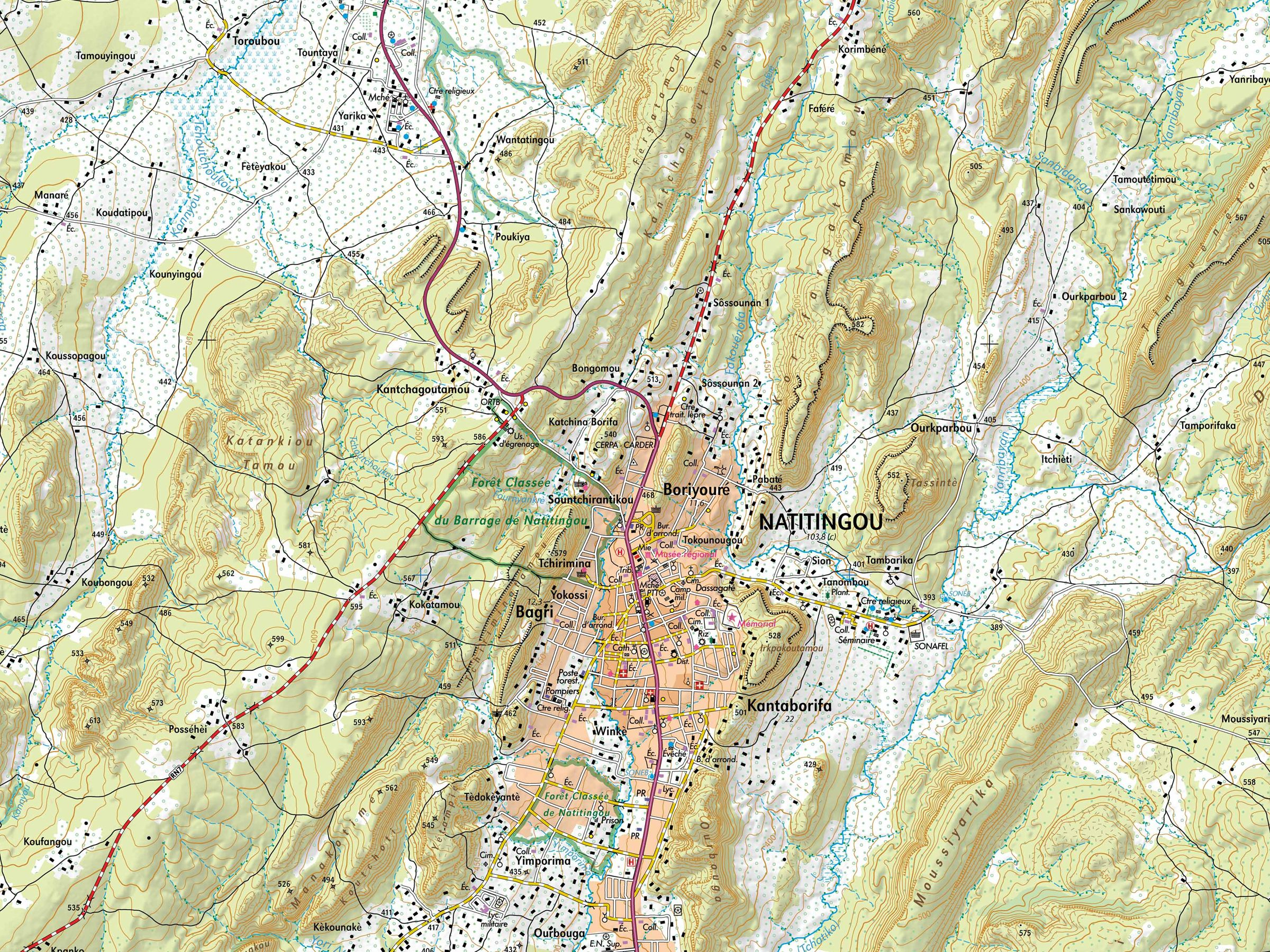 IGN FI / IGB : Cartographie BENIN 1/50.000