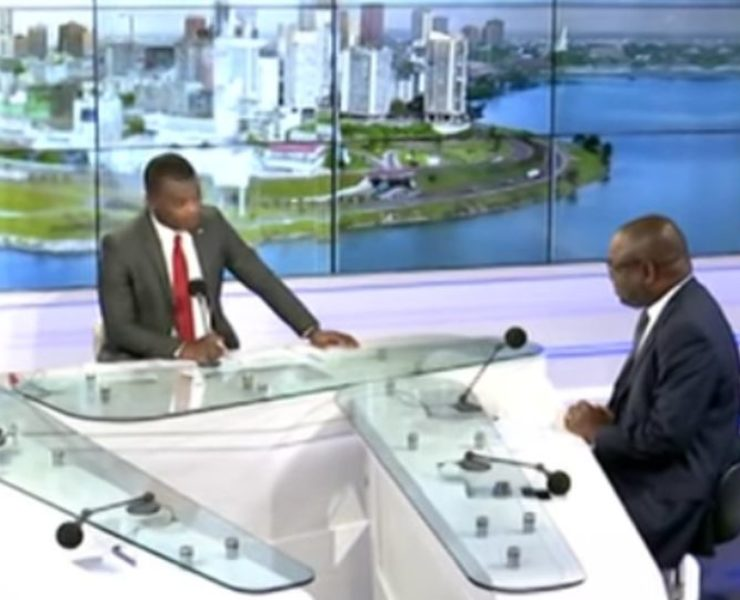 Ivory Coast: The Director for Modernisation & Simplification of Urban Land guest of the TV news
